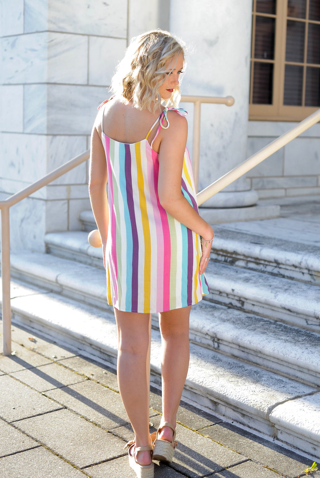Rainbow Multi Stripe Dress