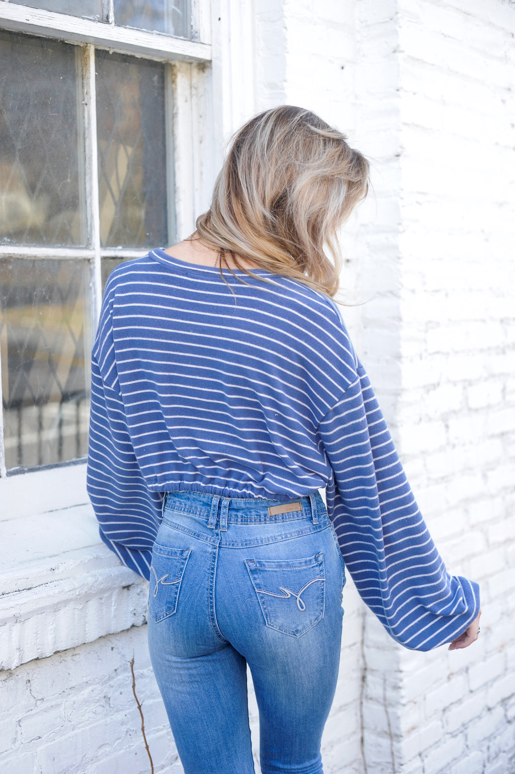 Striped Slouch Tie Crop Top