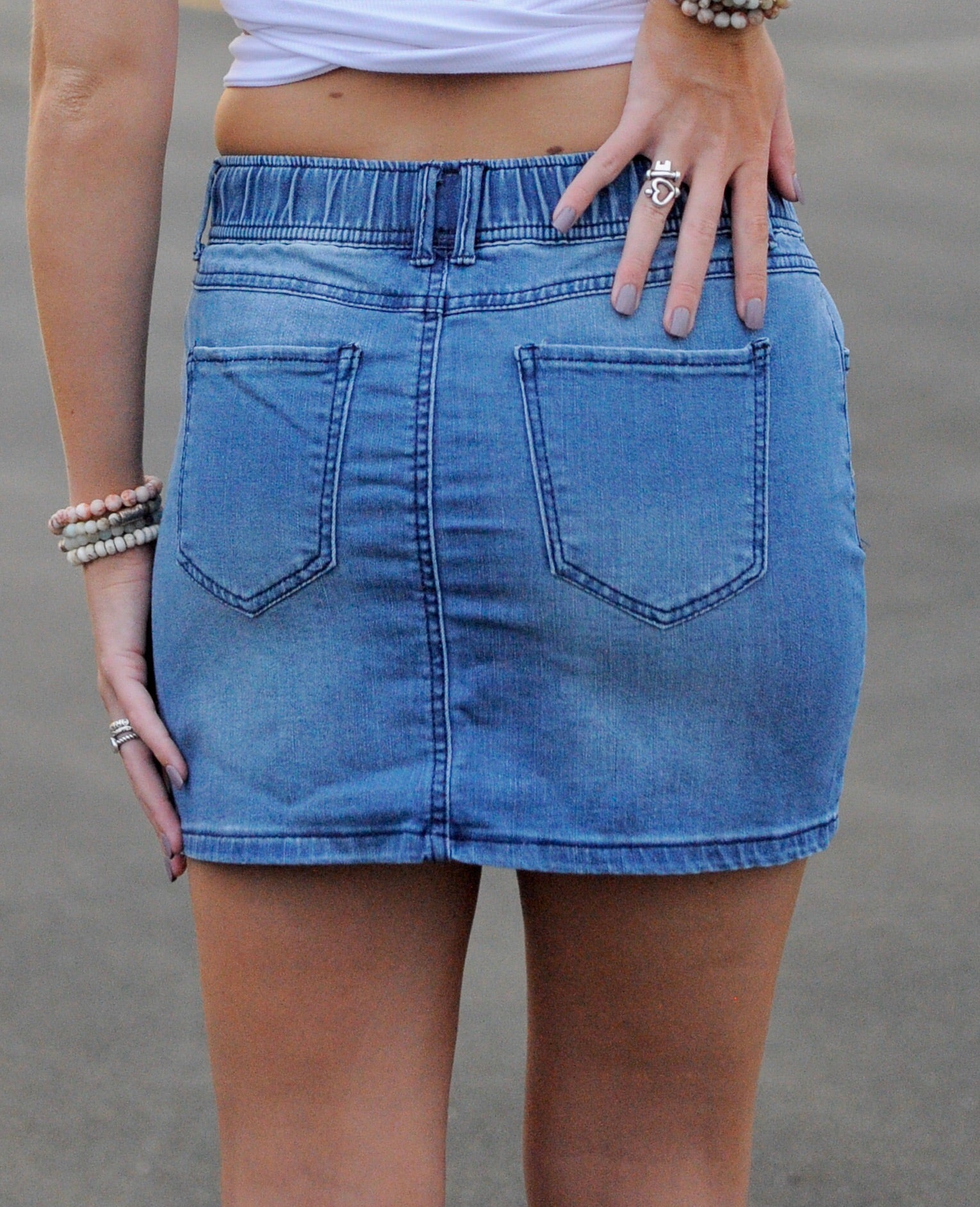 Ariana Denim Mini Skirt