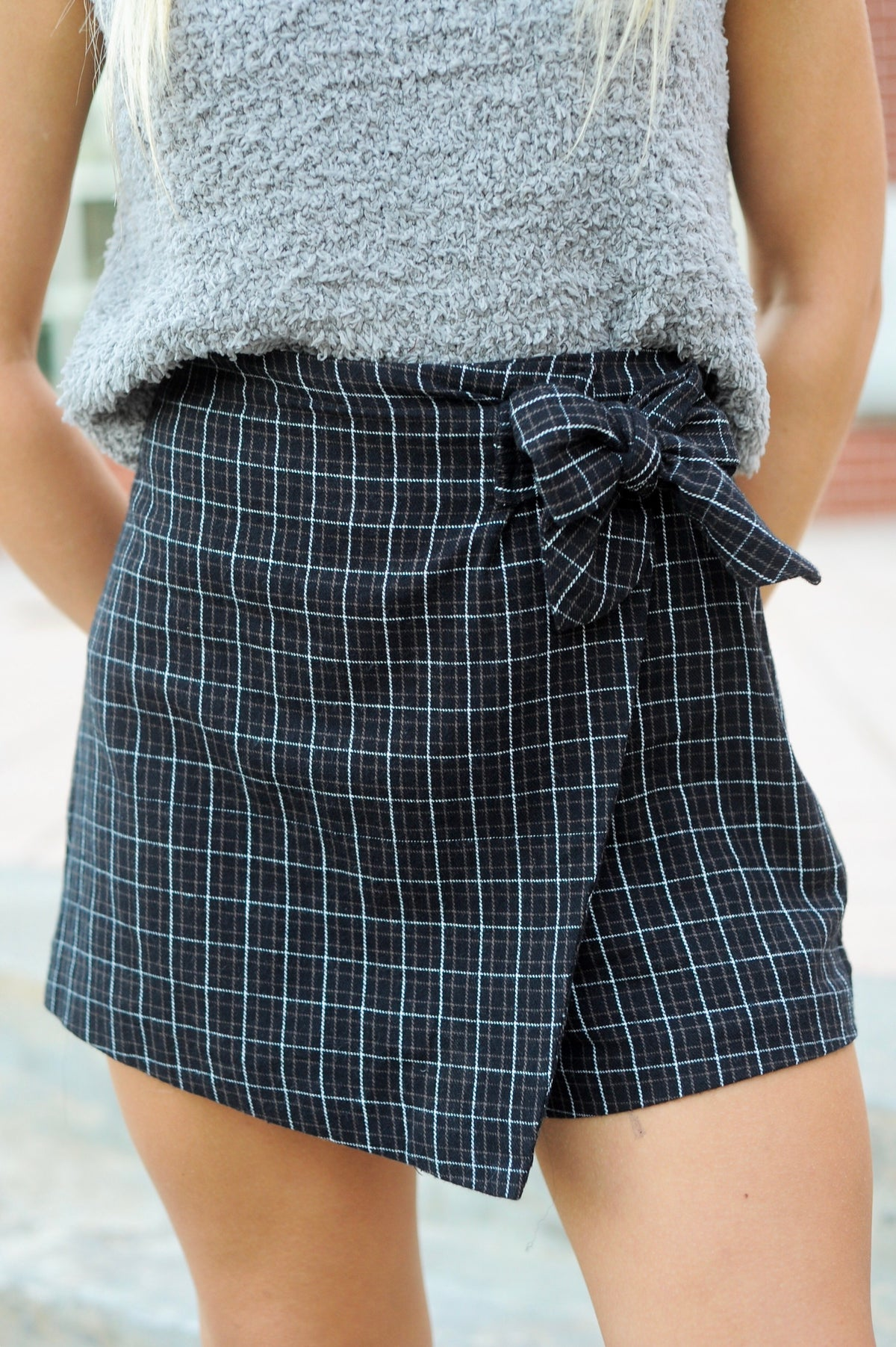 Checkered Plaid Skort
