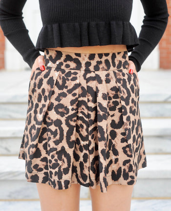 Slouchy Leopard Shorts