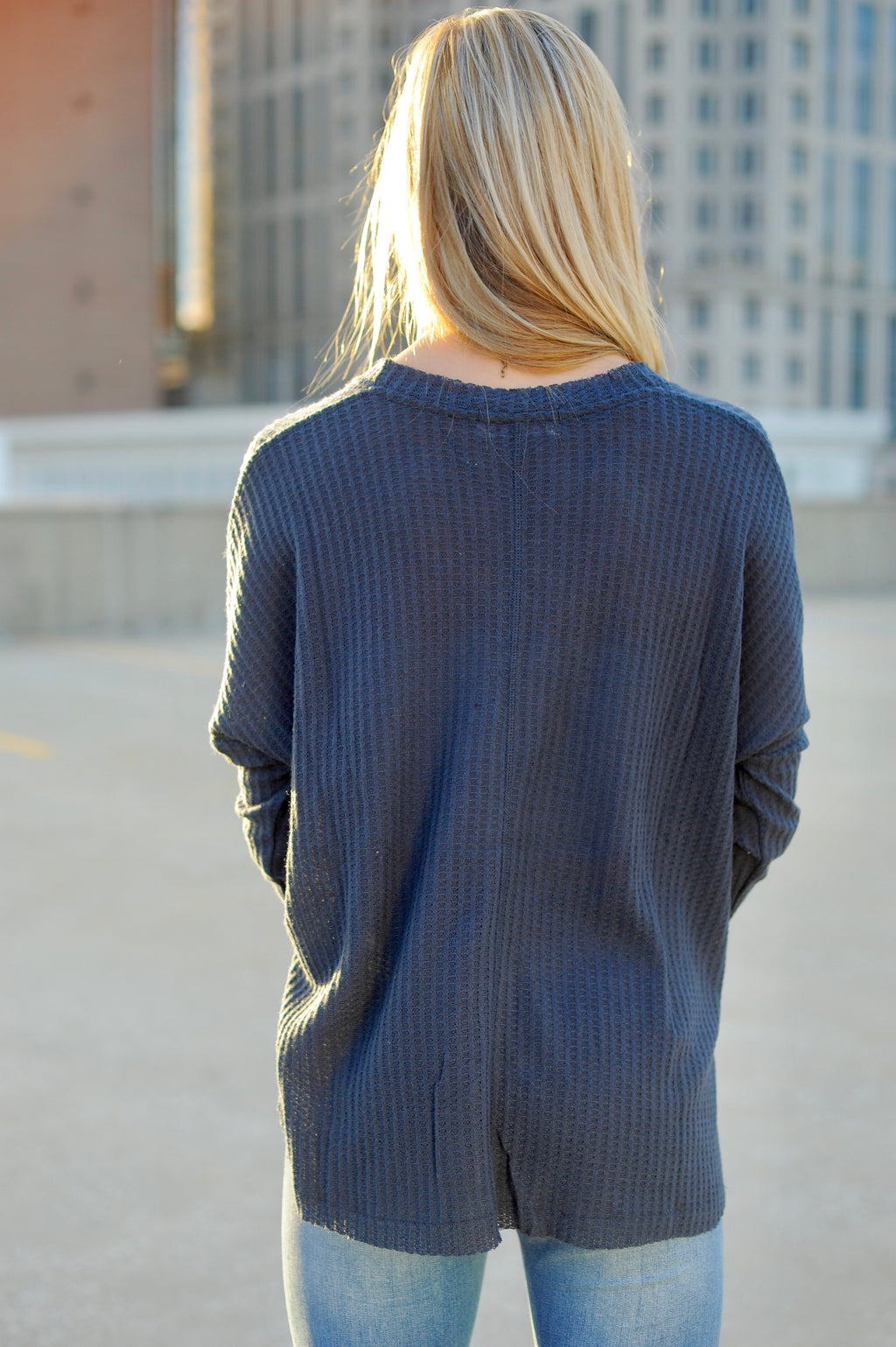 Basic Thermal Top- Dark Grey