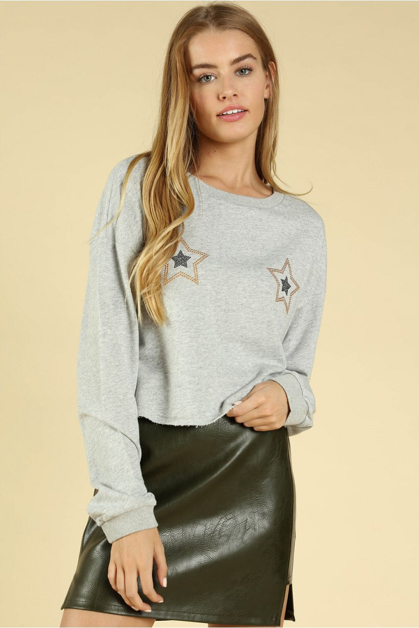 Jeweled Star Basic Tee