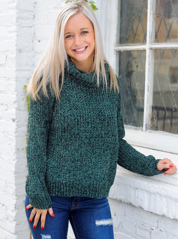 Vanessa Knit Sweater- Hunter Green