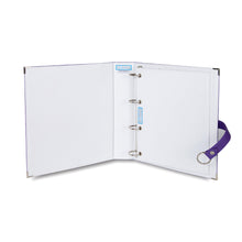 Binder- Storage Solution for Craft Supplies and Jewelry.  Purple
