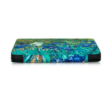 Bead Board Grande- Your Project Collection and Work Surface in One Zippered Folder. Irises.