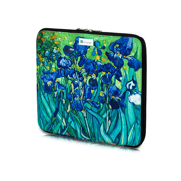 Bead Board Grande- A Work Surface for Making Jewelry for Travel & Home. Irises.