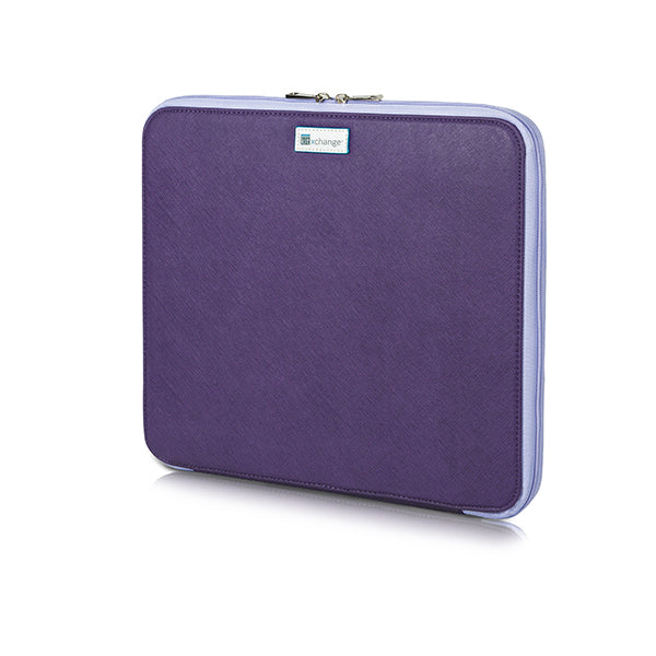 Bead Board Grande- Your Project Collection and Work Surface in One Zippered Folder. Purple.