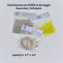 "MEDIUM BAGGIES-SILVER  (2.7"" x 3.0"" capacity) ZipTop Storage Baggies for Craft Supplies"