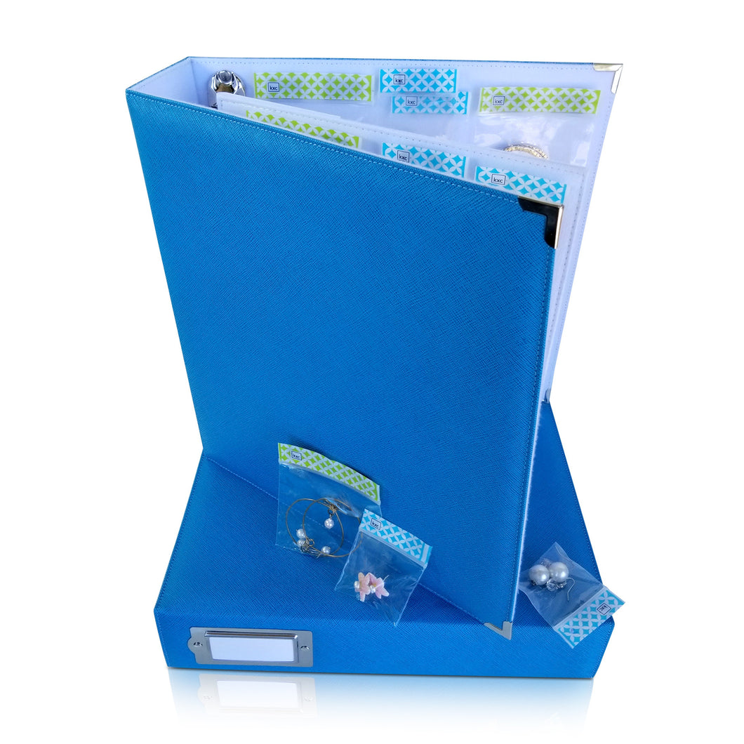 Binder - Storage Solution for Craft Supplies and Jewelry.  Blue