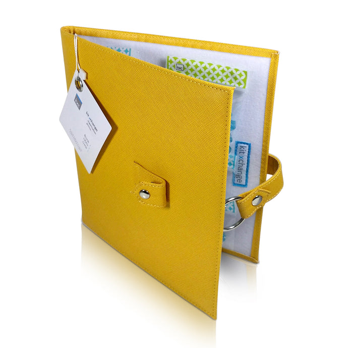 Travel Book -  Your Project Collection and Work Surface in One Zippered Folder. Marigold Yellow