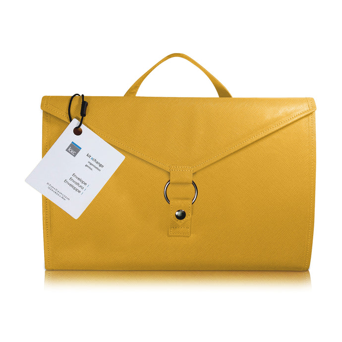 Storage Envelope for Craft Supplies and Jewelry. Yellow