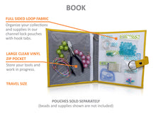 Small Project Travel BOOK : Marigold. Beads, findings, Jewelry, Scrapbook Stamps and Stickers . . .