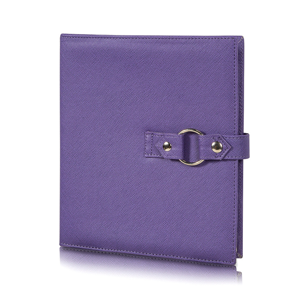 Travel Book -  Storage for Craft Supplies and Jewelry. Purple