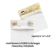 "SMALL BAGGIES-GOLD (1.6"" x 2.0"" capacity) Storage Baggies for Craft Supplies"