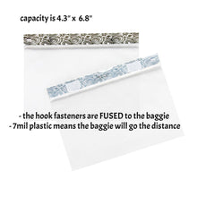 "LARGE BAGGIES- CHARCOAL GREY (4.3"" x 6.8"" capacity) ZipTop Storage Baggies for Craft Supplies"