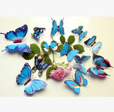 Hot 3D Butterfly Wall Decals Multicolor PVC Wall Stickers For TV Wall Kids Bedroom Wall Home house Decoration