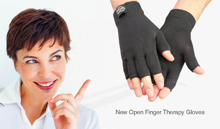 New Open Finger Therapy Gloves from Prolotex