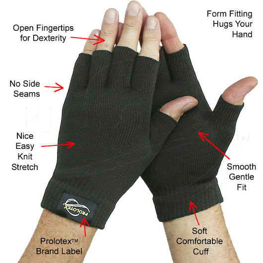 Gloves With Fingertips Out: Far Infrared No Finger Gloves
