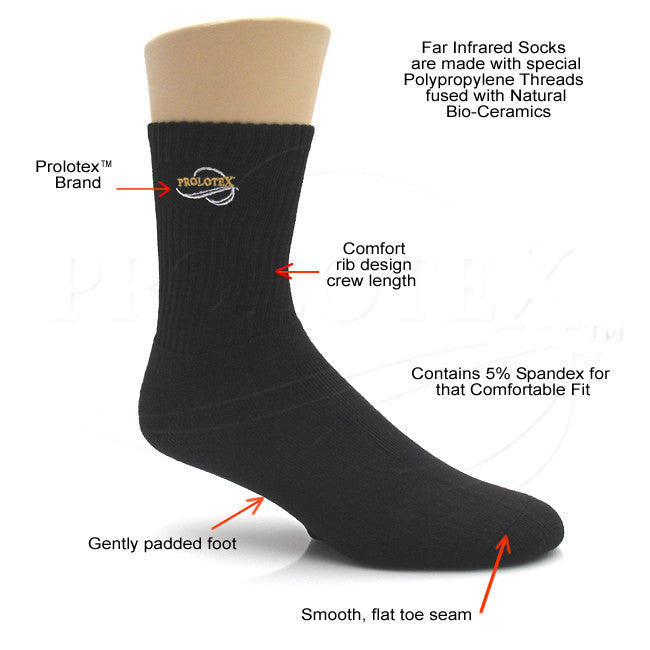 Prolotex™ COMFORT FIT Bio-Ceramic Far Infrared Raynaud's Socks