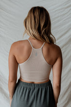 FREE PEOPLE MOVEMENT CROPPED RUN TANK- SANDSHELL