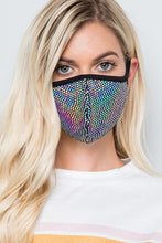 MASKS DISCO SILVER OPALESCENT SPARKLY