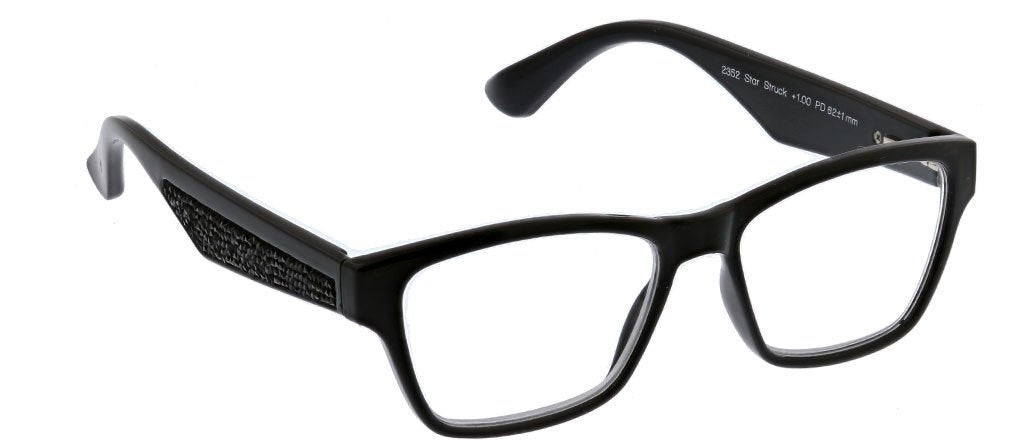 PEEPERS READING GLASSES STAR STRUCK-BLACK SPARKLE