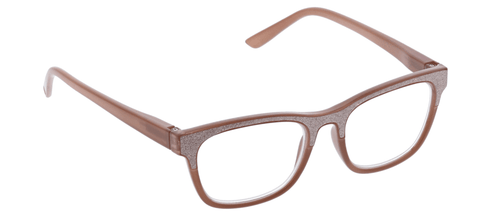 PEEPERS READING GLASSES FOXY MAMA-TAUPE SPARKLE