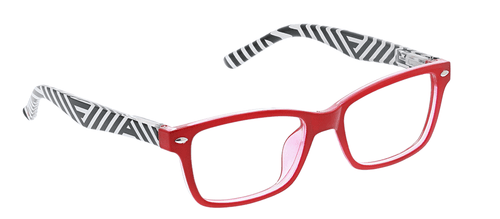 PEEPERS READING GLASSES ZUMA-RED STRIPE