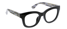 PEEPERS READING GLASSES CENTER STAGE LUXE-BLACK MARBLE