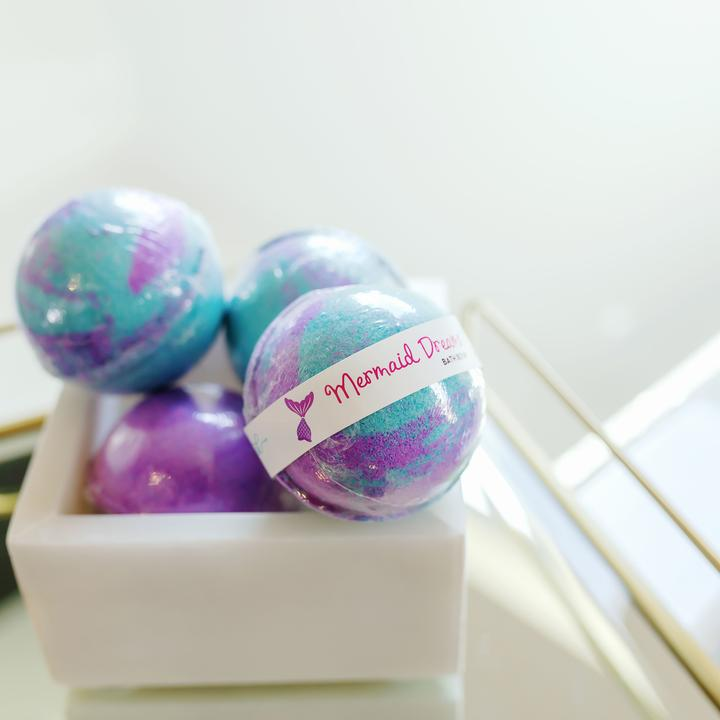 LEEBRICK LARGE BATH BOMB- MERMAID DREAMS