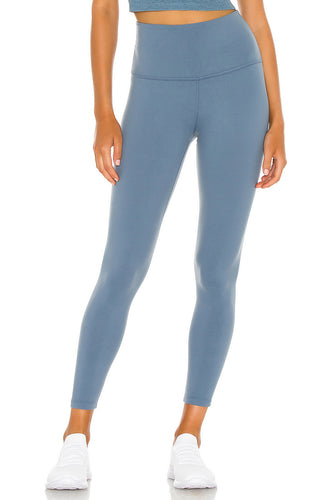 BEYOND YOGA CAUGHT IN THE MIDI HIGH WAISTED LEGGING WASHED DENIM