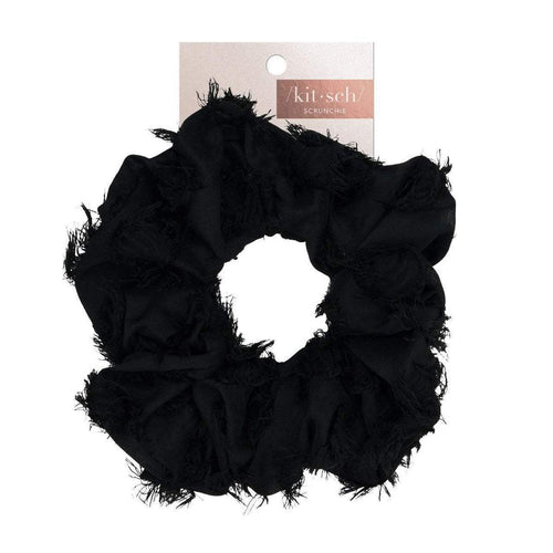 KITSCH BRUNCH SCRUNCHIE- FRAYED BLACK