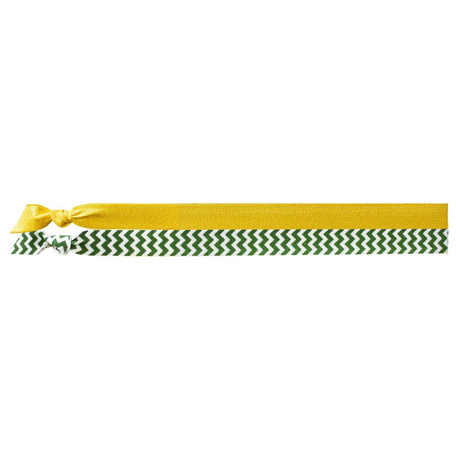EMI JAY SPIRIT HEADBANDS 2 PACK- GOLD & GREEN CHEVRON