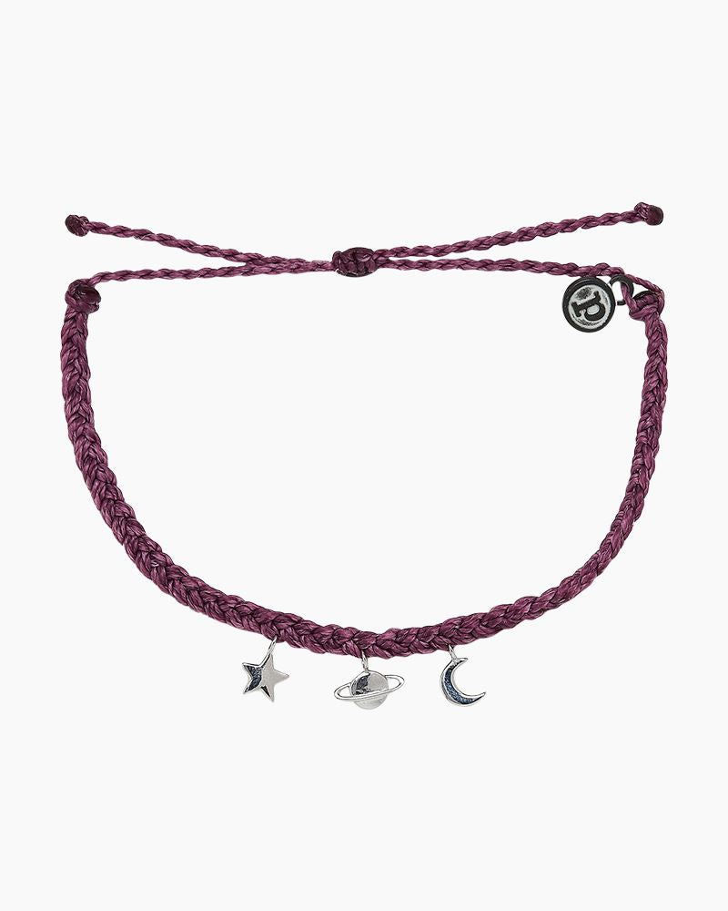 PURA VIDA COSMIC CHARMS BRACELET DARK LILAC NEW!