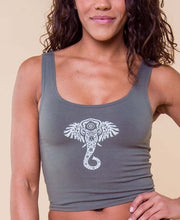 SOUL FLOWER ELEPHANT VIBES ORGANIC CROPPED TANK TOP