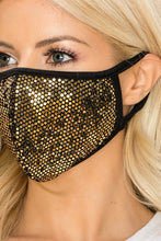 MASKS BLING DISCO GOLD SUPER SPARKLY!