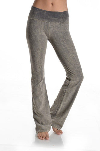T PARTY ROLL DOWN WAIST MINERAL WASH BOOTCUT PANT