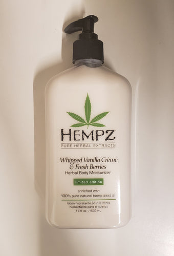 HEMPZ *LIMITED EDITION* BODY MOISTURIZER- WHIPPED VANILLA CREME & FRESH BERRIES