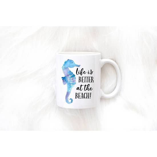 SWEET MINT GOODS LIFE IS BETTER AT THE BEACH MUG