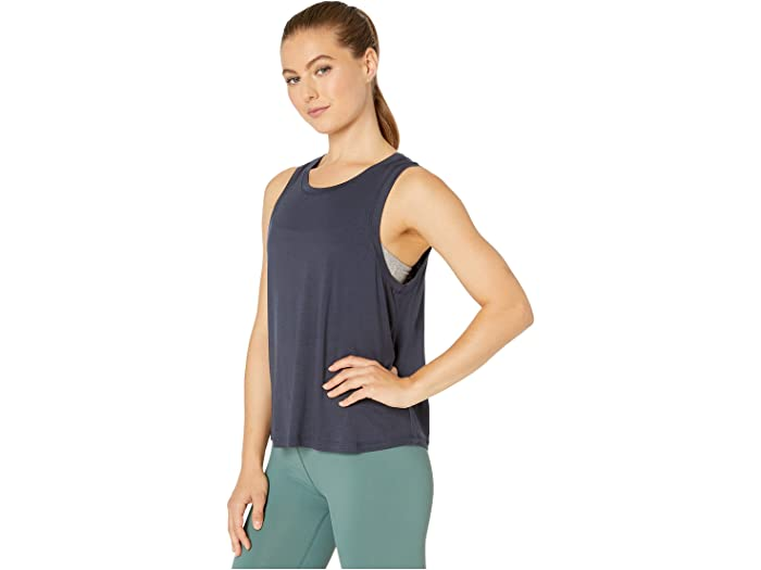 BEYOND YOGA FEATHERWEIGHT BALANCED MUSCLE TANK - NOCTURNAL NAVY