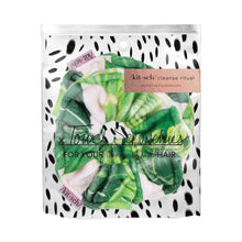 KITSCH MICROFIBER TOWEL SCRUNCHIES- PALM LEAVES