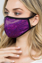 MASKS PURPLE FOIL SPARKLY