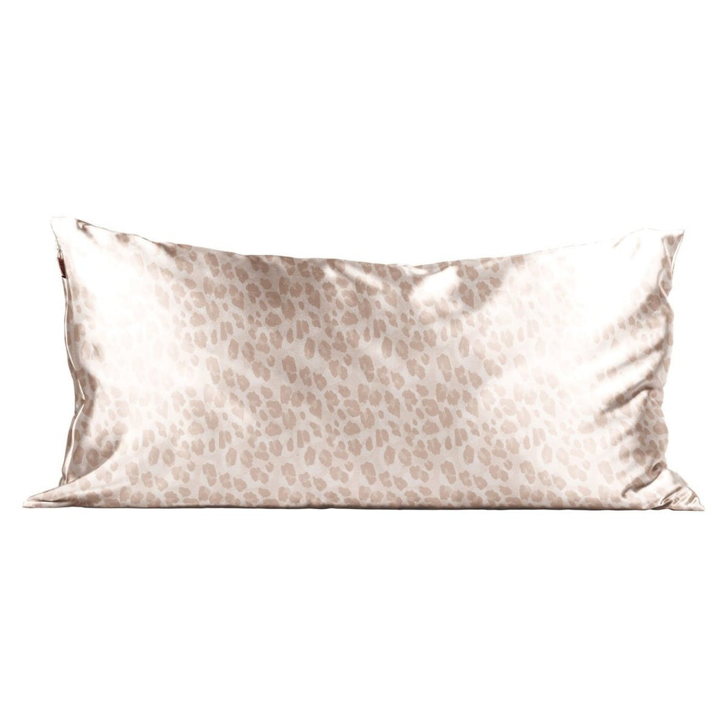 KITSCH SATIN PILLOWCASE KING- LEOPARD