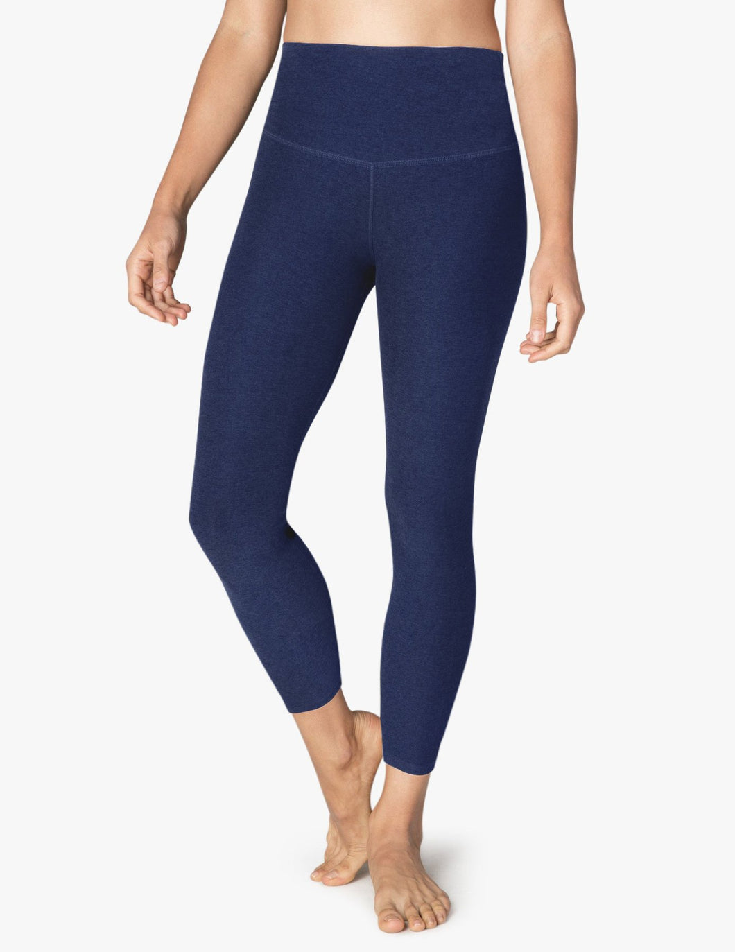 BEYOND YOGA SPACEDYE CAUGHT IN THE MIDI HIGH WAISTED LEGGING NOCTURNAL NAVY