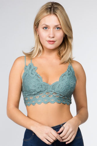 ANEMONE ELISE LACE BRALETTE LIGHT TEAL