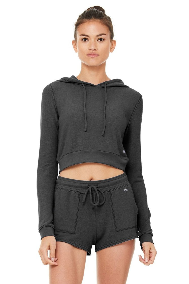 ALO GETAWAY HOODIE ANTHRACITE GRAY