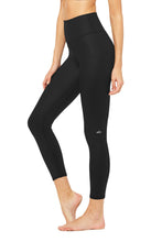 ALO 7/8 HIGH WAIST AIRBRUSH LEGGING - BLACK