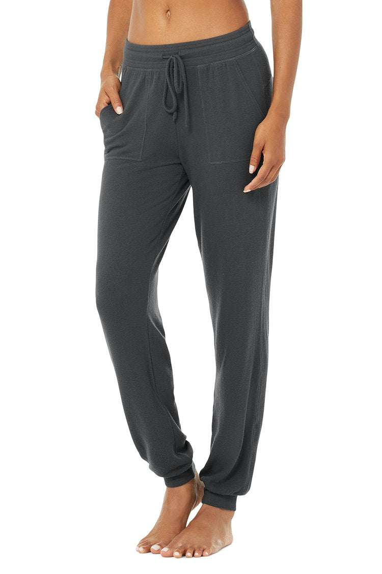 ALO SOHO SWEATPANT ANTHRACITE