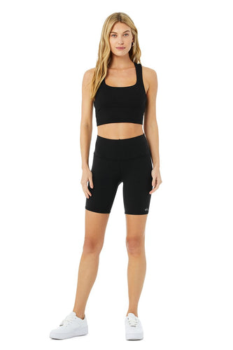 ALO HIGH-WAIST BIKER SHORT BLACK